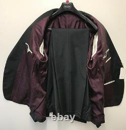Paul Smith Charcoal Suit Fine Check REGENT Slim Fit UK44R Chest 46 Waist 39