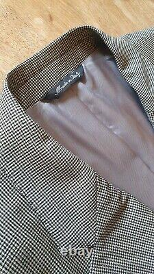 Paul Smith Luxury Made in Italy GREY SLIM FIT 40R Trousers 34 Woven HOUNDSTOOTH