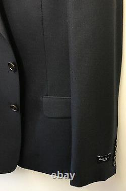 Paul Smith NAVY BLUE Blazer /Suit Jacket LONDON FLORAL Slim Fit UK44R Chest 44
