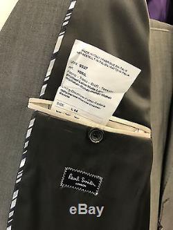 Paul Smith TRAVEL SUIT BYARD Mid Grey Slim Fit UK44L EU54L RRP £725