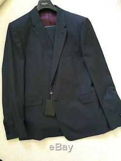 Paul Smith The Floral SLIM FIT Blue 2 button Single Breasted Suit 46 / 56