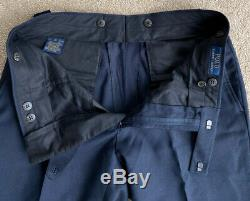 Polo Ralph Lauren Navy Blue Wool Suit 38R/32 Tailored Slim fit Rrp £550