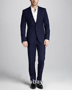 Prada Men's Dark Blue Made in Italy 100% Virgin Wool Slim Fit Suit 40R (EU 50R)