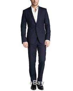 Prada Men's Extra Slim Fit Dark Blue Virgin Wool Made in Italy Suit 40R (50R EU)