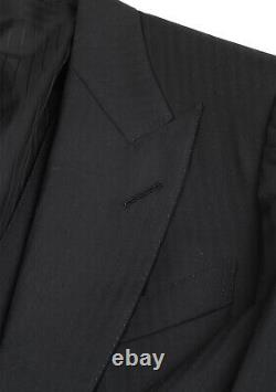 PreOwned Tom Ford Windsor Black 3 Piece Suit Size 52 / 42R U. S. Fit A