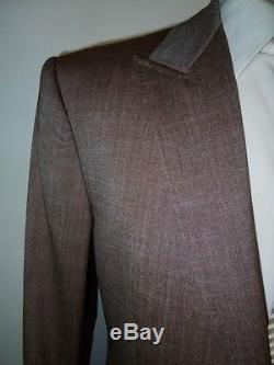 RAKE London Thorn / Beige Wool Stretch Slim Fit Fitted Suit 38 RRP £1,495.00