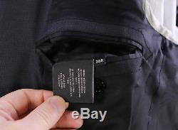 RALPH LAUREN Black Label Black Checkered Slim Fit 2-Btn Wool Suit 38R