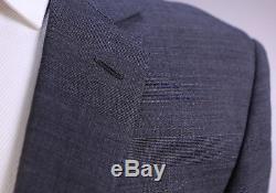 RALPH LAUREN Black Label Gray/Black Glen Plaid 2-Btn Slim Fit Wool Suit 40R