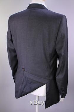 RALPH LAUREN Black Label Recent Gray Woven 2-Btn Slim Fit Wool Suit 40R