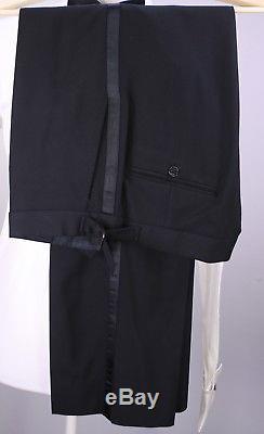 RALPH LAUREN Black Label Solid Black Shawl Lapel Slim Fit Tuxedo Suit 40R