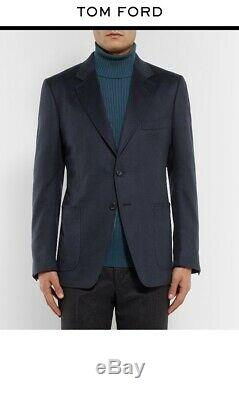 RARE TOM FORD 100% Cashmere Suit Jacket Blazer In Navy 46R 36R