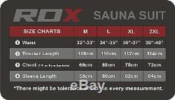 RDX Fight ME Sauna Sweat Track Suit Weight loss Slimming Fitness Boxing Gym AU