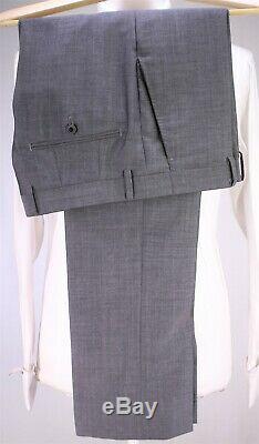 RICHARD JAMES Savile Row Solid Gray Slim Fit Wool-Mohair 2-Btn Luxury Suit 36S