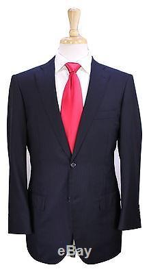 RING JACKET Japan Black Subtle Pinstripe 2-Btn Slim Fit Wool Suit 38S