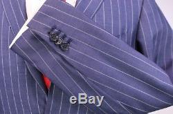 RING JACKET Japan Blue Pinstripe Wool-Silk Summer 2-Btn Slim Fit Suit 38R