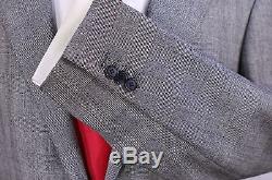 RING JACKET Japan Gray/Black Glen Plaid Wool 2-Btn Slim Fit Suit 40R