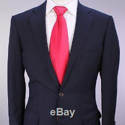 RING JACKET Japan Navy Blue Herringbone Slim Fit Wool 2-Btn Suit 36S