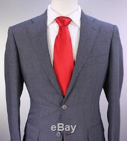 63055f4733a72 RING JACKET Japan Solid Gray Wool Slim Fit 2-Btn Luxury Handmade Suit 36R