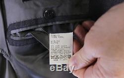 RING JACKET Japan Solid Gray Wool Slim Fit 2-Btn Luxury Handmade Suit 36R