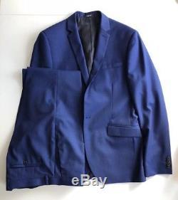 RRP £300, Kenneth Cole Suit, Slim Fit, Blue 40L suit 34 trouser, Worn Once