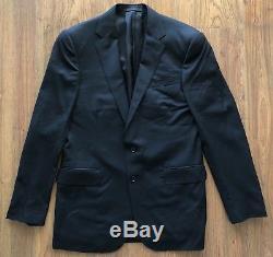 Ralph Lauren Black Label Anthony Slim Fit Black 100% Wool Suit 40 Italy $2100