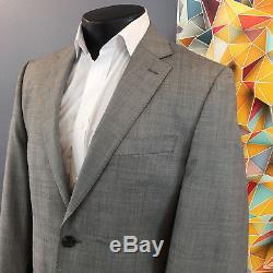 Ralph Lauren Black Label Solid Gray Slim Fit 2pc Suit Mens 40L 34x33 Flat Front