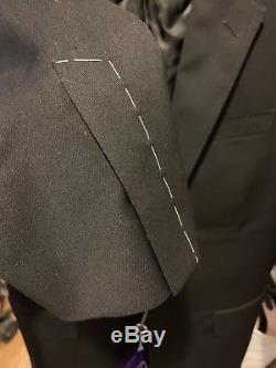Ralph Lauren Purple Label Anthony Two-Button Suit Black 38R 31W Slim Fit NWT