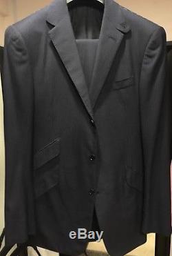 Ralph Lauren Purple Label Slim Fit Men Suit 40L Blue Striped