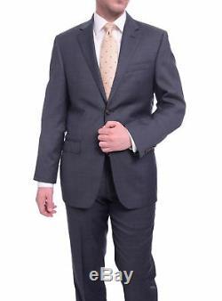 Ralph Lauren Slim Fit Solid Navy Blue Pindot Two Button Ultraflex Wool Suit