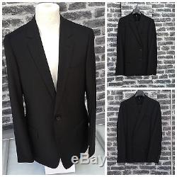 Rare & Gorgeous Dior Homme Hedi Slimane SS08 Solid Black SlimFit Wool Suit