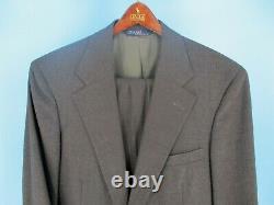 Rare Vintage Polo Ralph Lauren Brown Plaid Tweed Suit Heavy Wool Slim Fit 38R