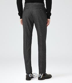 Reiss Charding Slim Fit Wool Suit, Charcoal Grey, Size 36 New