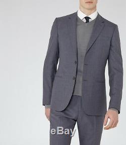 Reiss Kamara Slim Fit Wool Suit, Blue, Size 36 New
