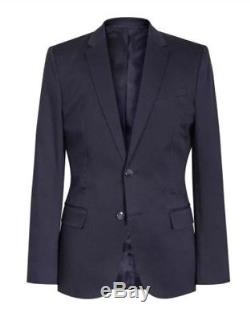 Reiss Navy Tenor Slim Fit Suit 40 chest 34 trousers new with tags boss