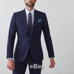 Reiss Suit BNWT, Slim-fit, Blue, 36 Chest, RRP £450