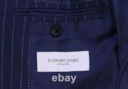 Richard James Royal Blue Pinstripe 3-Pc Slim Fit 2-Btn Wool Suit 38R