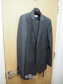 SAINT LAURENT PARIS Slim Fit Suits Jacket & Trousers Grey Wool IT54 US44 SLP YSL