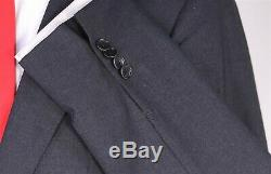 SID MASHBURN Very Recent Solid Charcoal Gray ITALY 2-Btn Slim Fit Wool Suit 40R