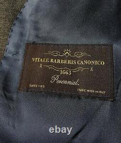 SUITSUPPLY 36S Slim Fit Sharkskin Gray Wool Suit Flat Pants 31x25 LAZIO