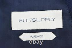 SUITSUPPLY HAVANA DOUBLE BREASTED Men UK42R Pure Wool Blue 2-Piece Suit 17403