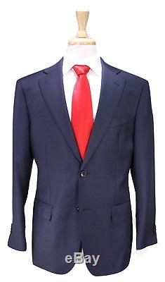 SUITSUPPLY Napoli Fit Solid Navy Blue 2-Btn Slim Fit 110's Wool Suit 38R