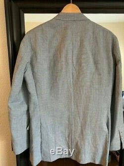 SUITSUPPLY Washington Slim Fit Suit Blue Hounds Tooth 40R Peak Lapels