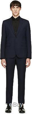 Saint Laurent Paris Wool Navy Blue Slim-fit Wool Suit 52 54 56 58 48 New Men's