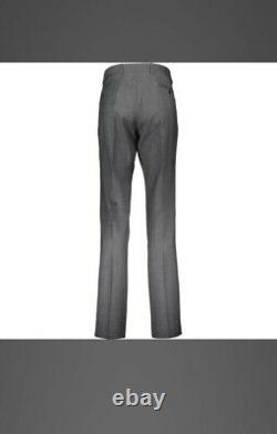Sale! Bnwt £505 Gucci Slim Fit 100% Wool Grey Work/suit Trousers 34 Waist-48 It