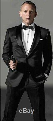 Skyfall James Bond Slim Fit Black Wedding Dinner Party Suit-High quality Replica