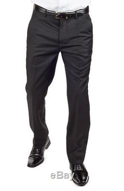 Slim Fit Men Suit 3 Piece Vested Solid Black Notch Lapel Double Vents AZAR MAN
