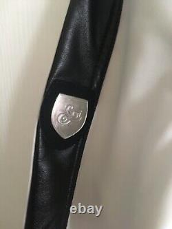 Soi Ski Suit Racer Slim Fit White/Black PU Leather