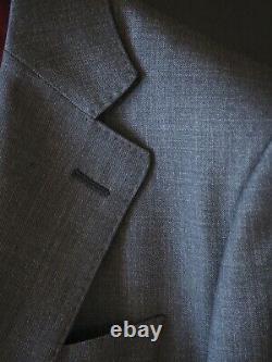 Spier & Mackay 36S Slim Fit S120's Medium Grey Sharkskin Suit