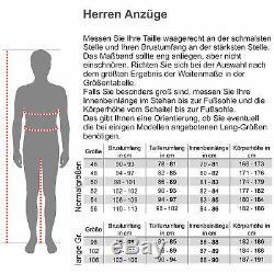 Steffen Klein Herren Anzug Slim-Fit kariert Business Suit Karo Zweiteiler Casual