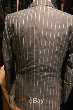 SuitSupply Gray Stripe Wool 2 Piece Suit Size 42R Slim Fit